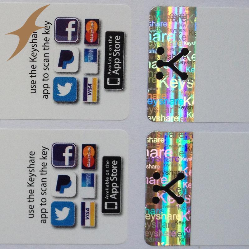 Holo-Stamping Void Sticker